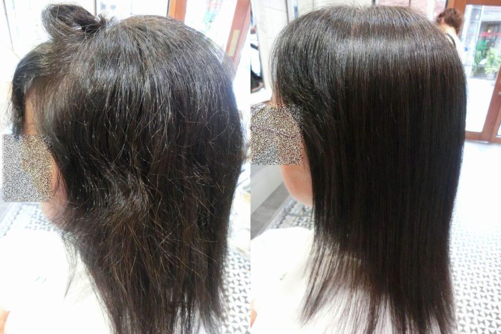 美髪髪質改善技術アクア保湿エンパニ貴女の髪年齢は?10歳若くなるツヤと柔らかさを感じて下さい。