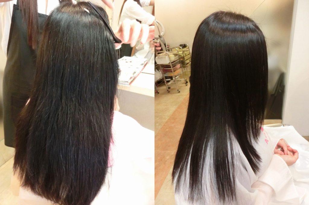 美髪内部結合強化保湿技術