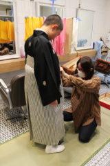 卒業式袴の着付け