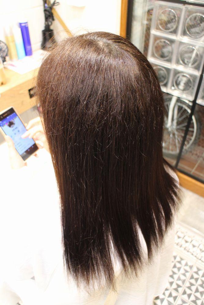 美髪縮毛矯正アクア保湿施術例2
