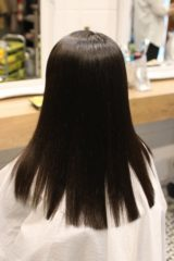 美髪縮毛矯正、施術後の写真