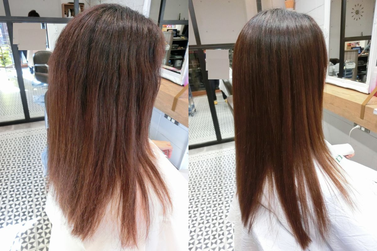 美髪アクアシーム縮毛矯正施術例3