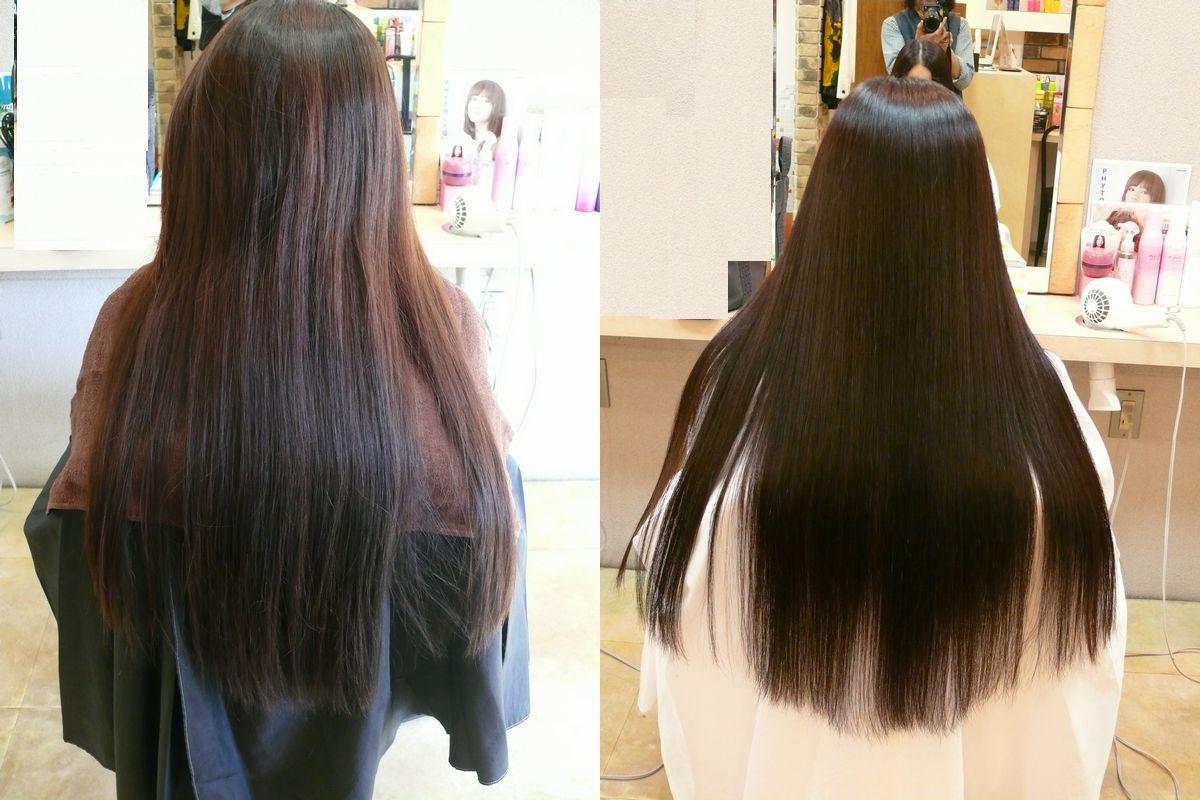 美髪縮毛矯正エンパニ施術ビフォーアフター