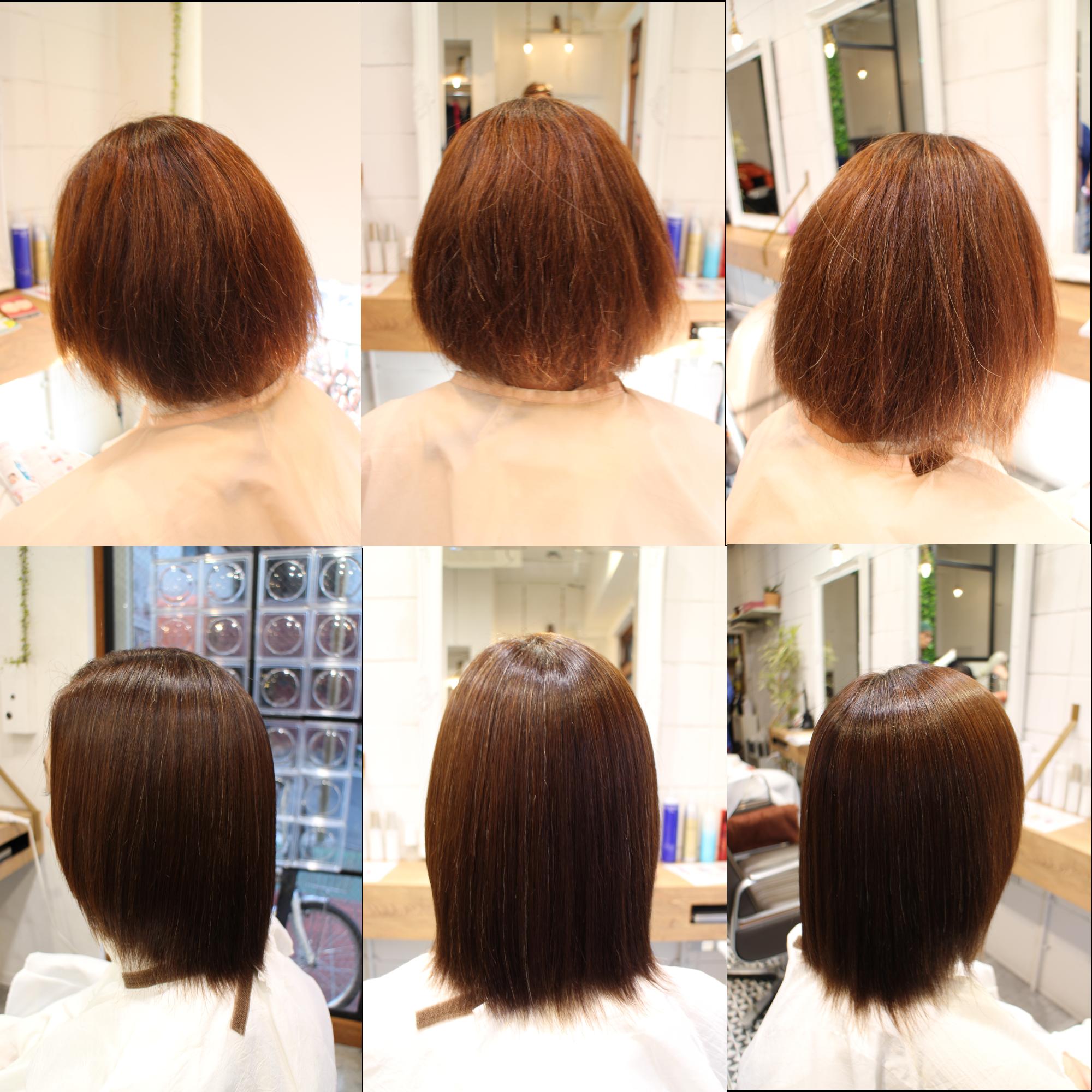 髪質改善アクアシーム矯正トリートメントボブ