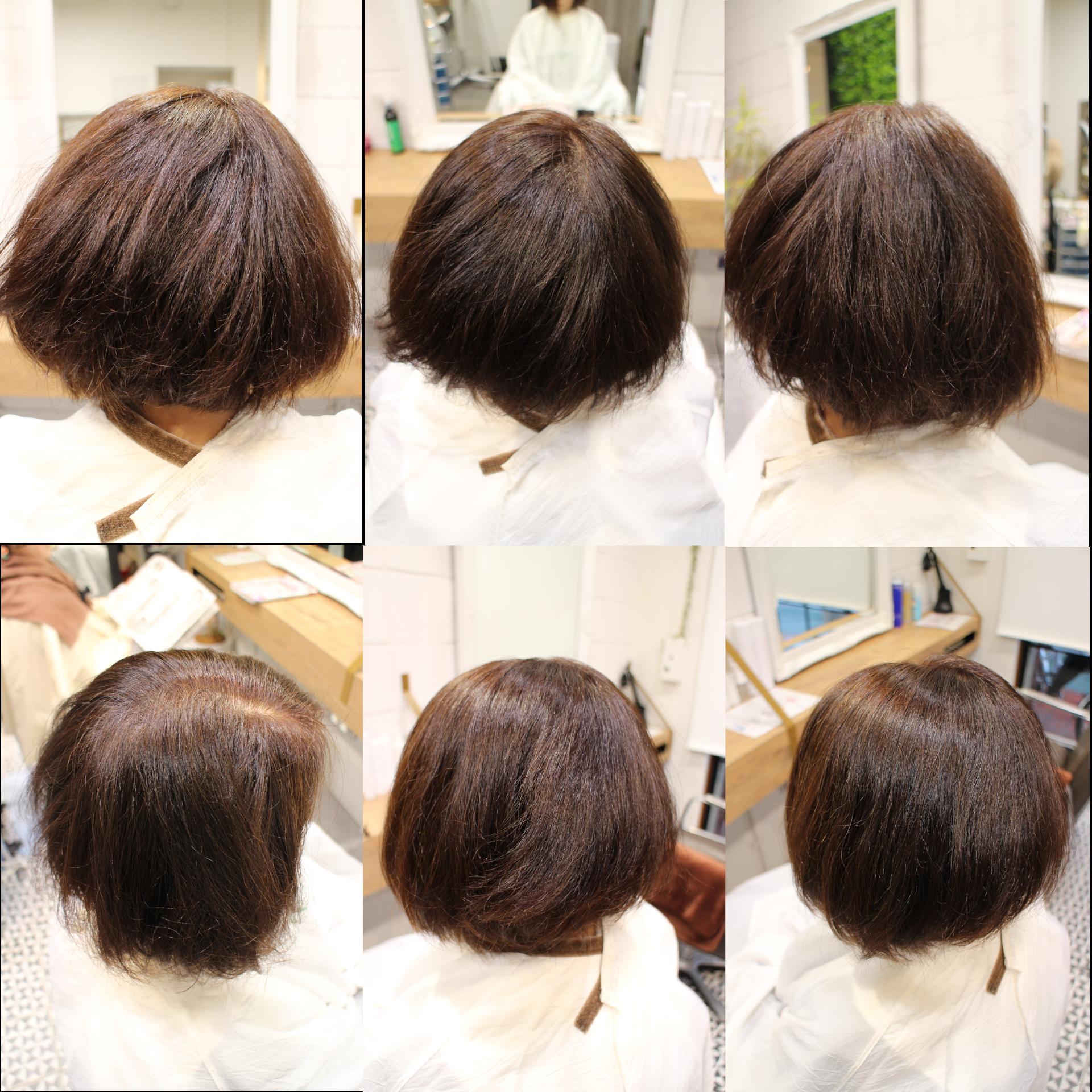 美髪髪質改善アクアシームトリートメント・ショートボブ